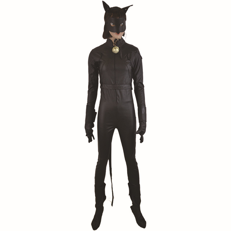 Black Girl Cosplay Cat Costumes Cute Tight Anime Coverall Onesie Slim Killer Assassin Clothing Nightclub Stage Show Unform S L in Girls Costumes from Novelty Special Use