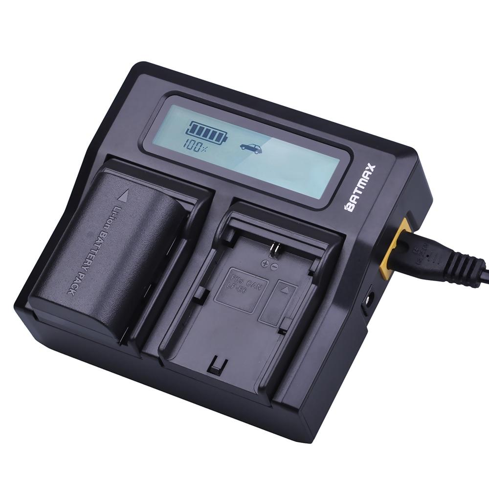 4Pcs 7.4V 2650mAh LP-E6 LPE6 LP E6 Battery + Rapid LCD Dual Charger For Canon 5D Mark II/III 6D 7D 60D 60Da 70D DSLR EOS 5DS