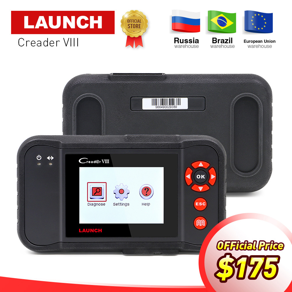 LAUNCH X431 obd2 code reader Scanner Creader VIII 8 Car diagnostic Tool for ENG/ABS/SRS/AT+Oil/EPB/SAS reset pk CRP129 NT614