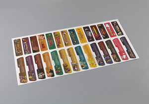 Image 1 - לקוחות עיצוב עבור Nintendo Gameboy Advance תווית מדבקת Lable עבור GBA קונסולה חזרה תג 28 יח\חבילה = 1 סטים