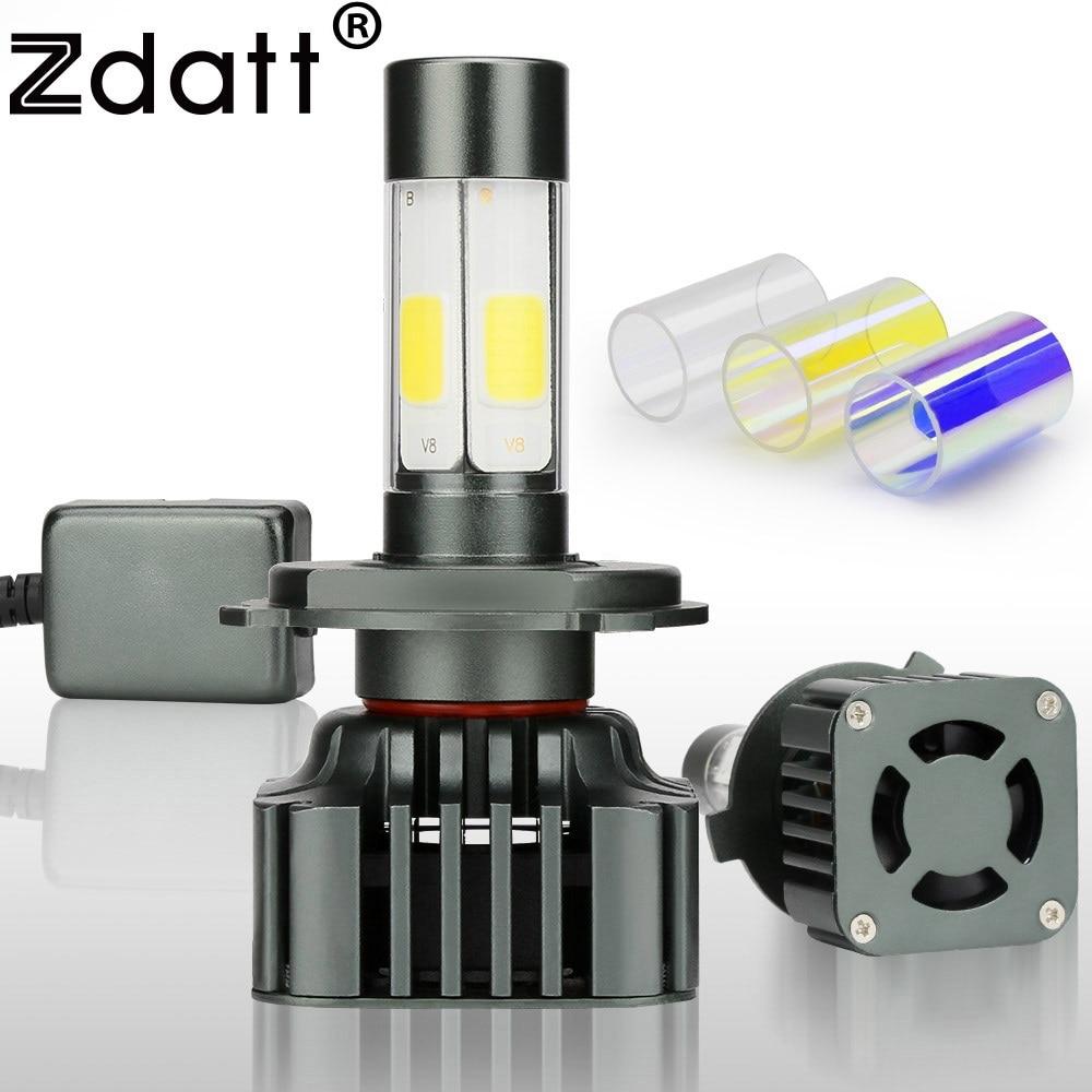 Zdatt 360 Degree Lighting Car Led Headlight Bulb H4 H7 H8 H9 H11 9005 HB3 9006 HB4 100W 12000LM Fog Light 12V Canbus Automobiles
