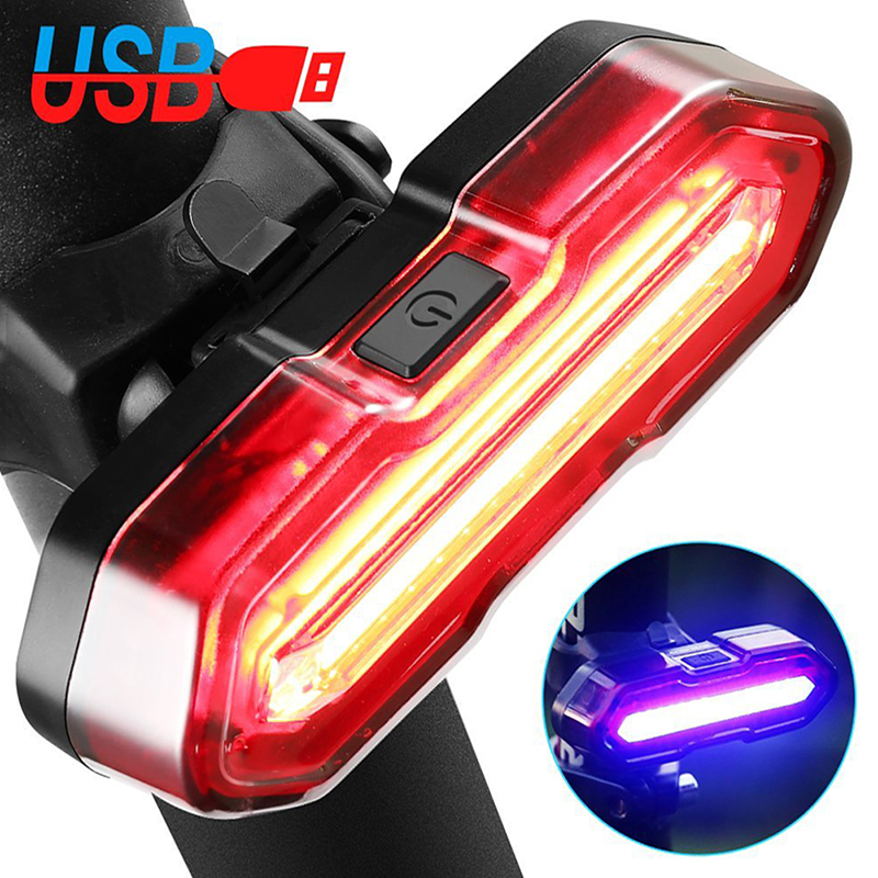 Wind Talk USB Led Bicycle Tail Light Waterproof 5 Modes Flashlight Cycling Warning Back  ...
