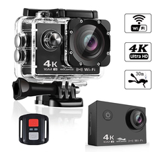 Ultra HD 4K Action Camera 2.0' 16MP 1080P Wifi Remote Control Sport Camera 170D Waterproof Sports DV DVR Video Camera Helmet Cam 4k 16mp 170 degree wifi 30m waterproof full hd dv sports camera 1080p wifi sports action camera hdmi video dv camera bike