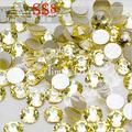 1440 PCS SS8 2.3-2.4mm Jonquil Amarelo Glitter Decorações da Arte do Prego Não Hotfix Natator Pedrinhas Para Roupas Sapatos acessórios