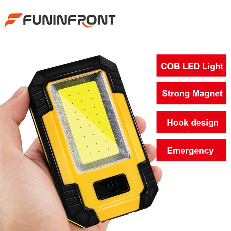 Super Bright 30 Watts 21 LEDs COB LED Flashlight for Camping Tent, USB Rechargeable Portable Lamp Light Lantern for Outdoor Work