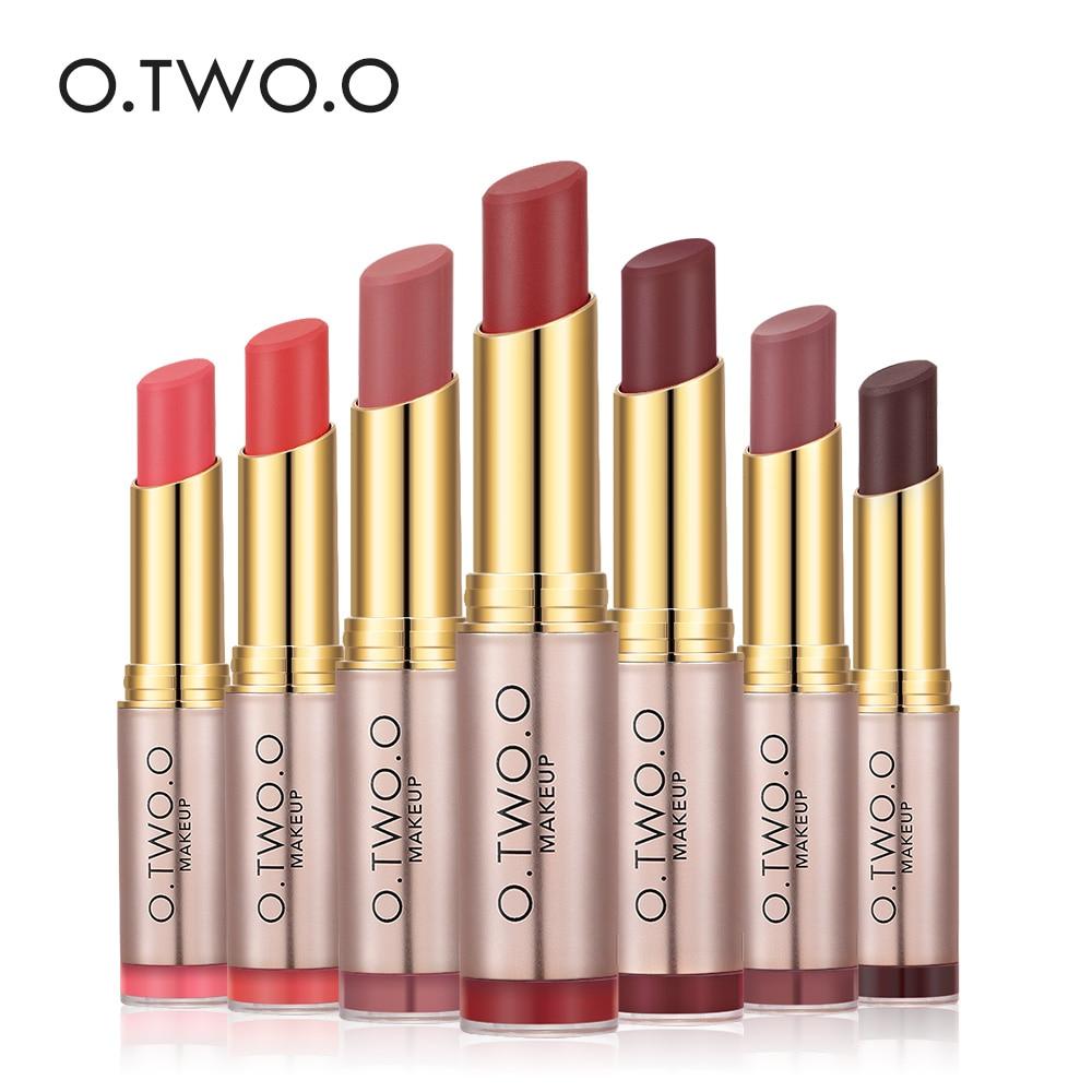 O TWO O Lips Makeup Waterproof Lipstick Matte Smooth Lipgloss Long Lasting Sweet Girl Lip Makeup