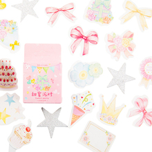 46pcs/pack Sweet Party Hand Painted Decorative Sticker Student DIY Gift Product Album Account Decoration Stickers Scrapbooking