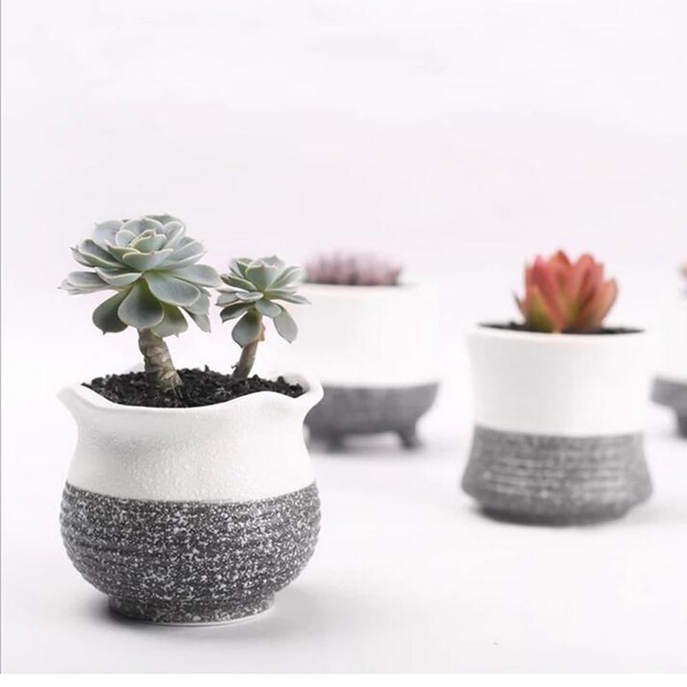 1pcs garden mini ceramic flower pot vase bonsai planter for Gardeners supply planters