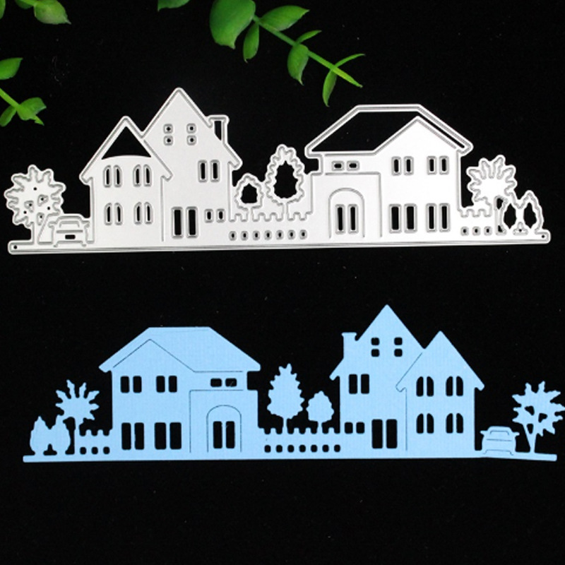 House Building Villa Metal Cutting Dies Stencils DIY Scrapbooking Photo Album Decorative Embossing Paper Card Making F4832