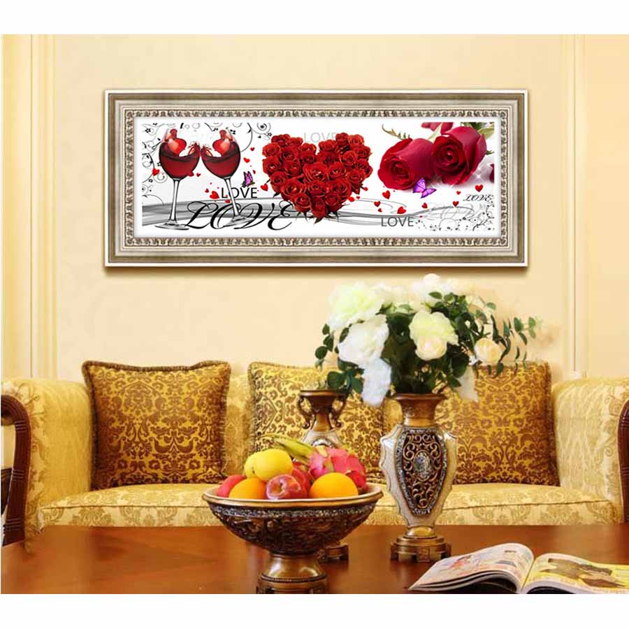 LaoJieYuan 5D diamant peinture amour Rose bricolage diamant broderie peinture