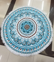 2016 New Summer Large Cotton Floral Printed Round Beach Towels With Tassel Circle Beach Towel Serviette De Plage