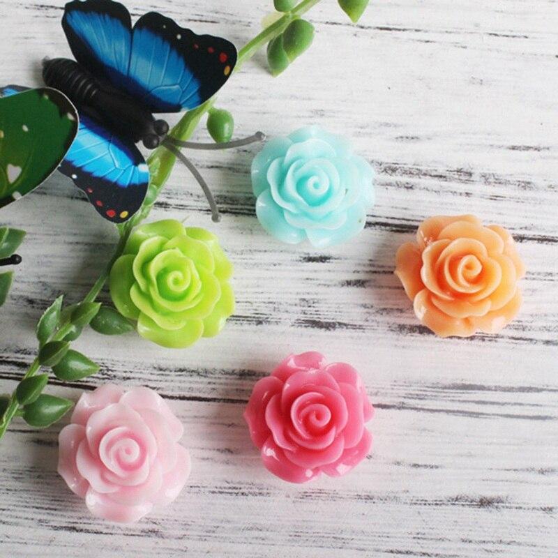 Горячая Распродажа Красочные розы магниты на холодильник симпатичные хладагента сообщение стикер украшения дома детские игрушки свадебны...