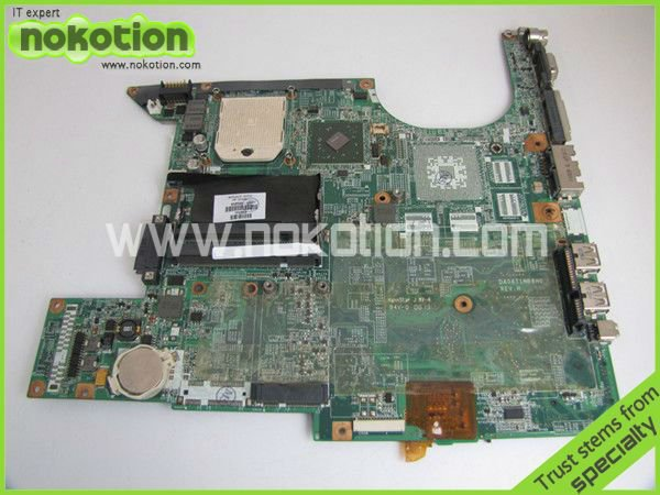 NOKOTION 459565-001 DA0AT1MB8H0 LAPTOP MOTHERBOARD for HP DV6000 6500 6600 DDR2 Mainboard Mother Boards Full Tested nokotion 646176 001 laptop motherboard for hp cq43 intel hm55 ati hd 6370 ddr3 mainboard full tested