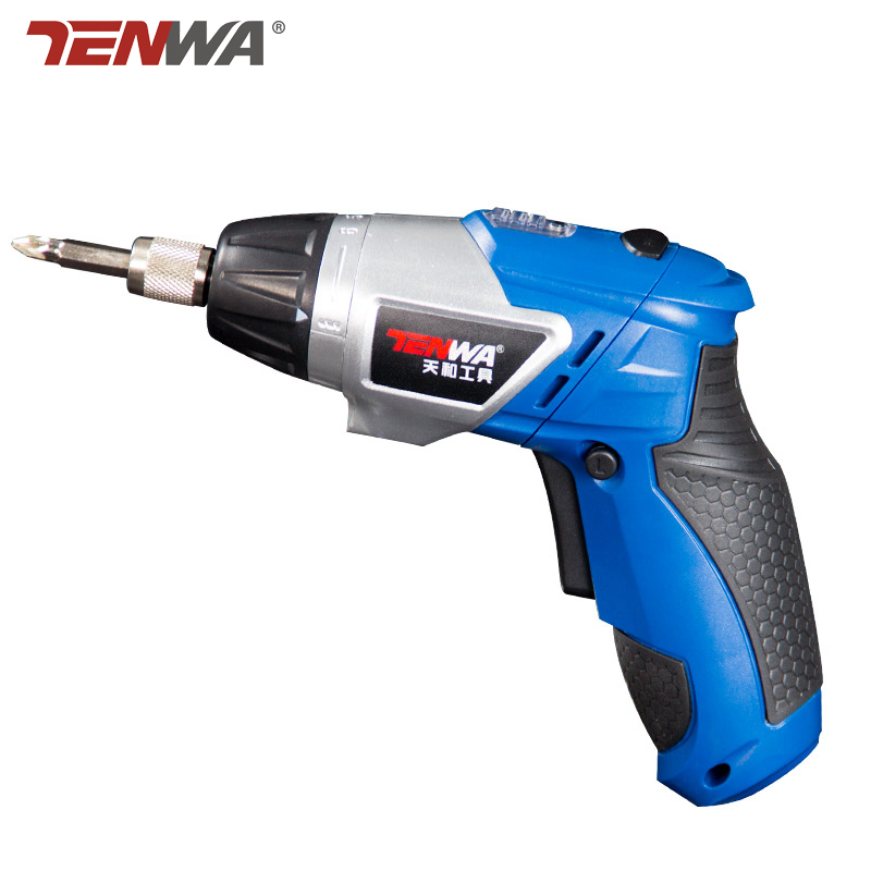 TENWA 3.6V Cordless Electric Screwdriver Drill Work Light Lithium Battery Rechargeable Electric Screwdriver with Bits EU plug