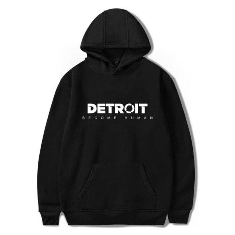 Hot Game Detroit Become Human Hip Hop Men Hoodies Sweatshirts Winter Fashion Cool Boys/Girls Fleece Hooded Jacket Funny Clothing