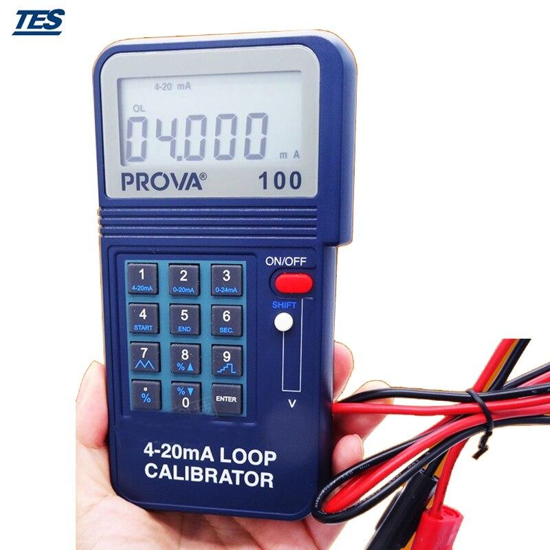 Calibrator Monitor Meter TES PROVA-100 Process Loop Calibrator 4-20ma free shipping newest mastech ms7220 thermocouple calibrator meter tester thermocouple calibrator express shipping