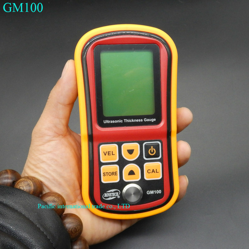 GM100 Digital LCD display Ultrasonic Thickness Gauge Metal Testering Measuring font b Instruments b font 1