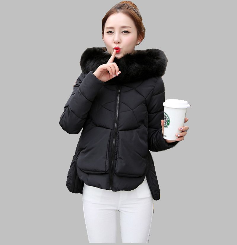 Latest Winter Fashion Women Down jacket Hooded Thickening Super warm Short Coat Pure color Loose Big