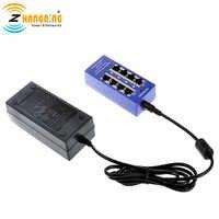 Inyector PoE pasivo de 4 puertos Gigabit de 24V, 802, 3Af/at, alimentación sobre Ethernet con fuente de alimentación de 24V y 60W para Routerboard MikroTik