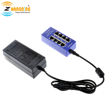 24V Gigabit pasivo 4 Puerto Poe inyector 802. 3Af/at potencia sobre Ethernet con fuente de alimentación de 24V 60W para Routerboard MikroTik