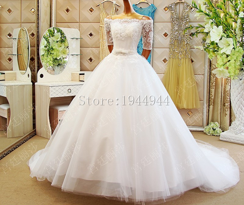 Plus Size Wedding Gown Patterns: 2017 Couture Ball Gown Elegant Wedding Dress Lace Tulle