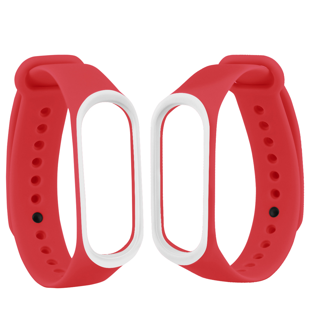 Image 2 - Smart Band Accessories For Xiaomi Mi Band 3 4 Strap Replacement Wristband Double Color Silicone Bracelet for Mi Band 4 Strap-in Smart Accessories from Consumer Electronics