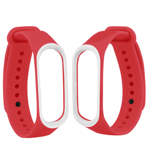 Image 2 - Smart Band Accessories For Xiaomi Mi Band 3 4 Strap Replacement Wristband Double Color Silicone Bracelet for Mi Band 4 Strap