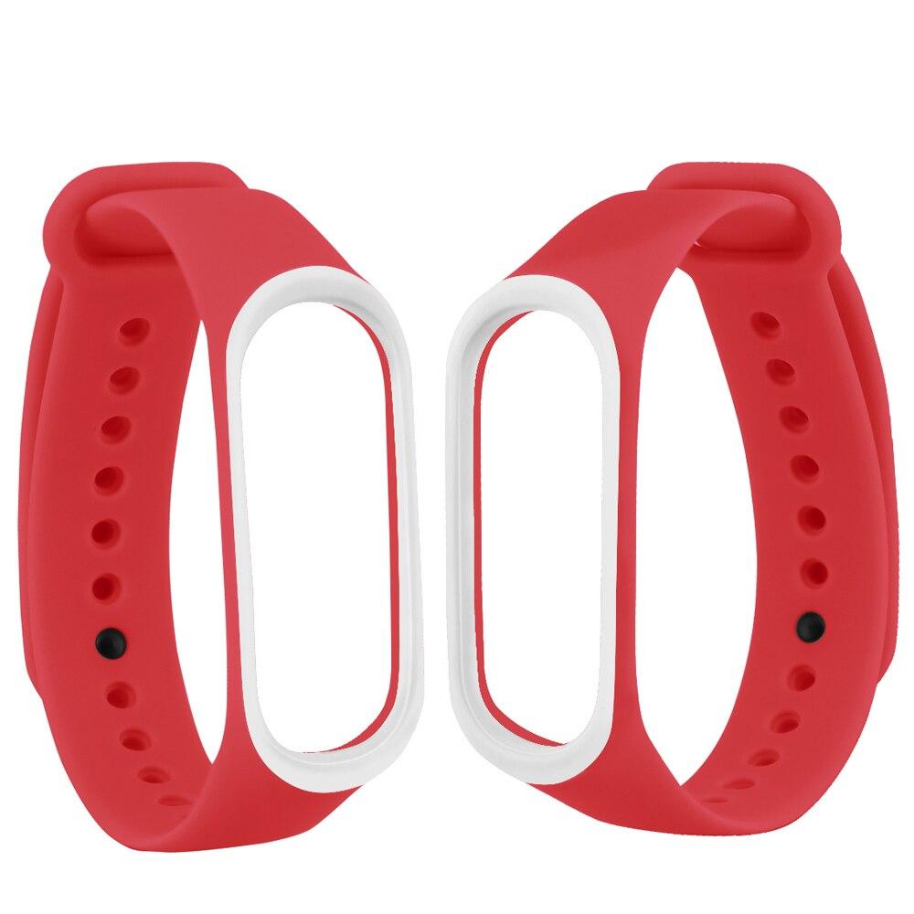 Image 2 - Смарт браслет аксессуары для Xiaomi mi 3 4 ремешок замена Браслет Двойной Цветной силиконовый браслет для mi Band 4 ремешок-in Умные аксессуары from Бытовая электроника