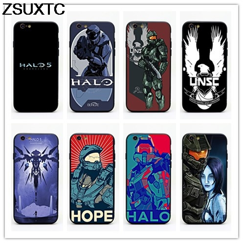 Game Halo 5 Guardians tpu+pc phone case for iphone 5 5s se 6 6s 6p 7 7p 8 8p X