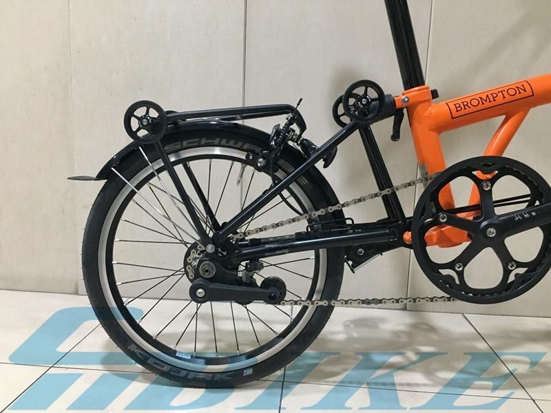 Bici Brompton Pieghevole.Acquista Portabici Da Bicicletta Leggero 150g Brompton Bici Pieghevole Portabici Da Carico Posteriore In Alluminio Ciclismo Accessori Biciclette Parti