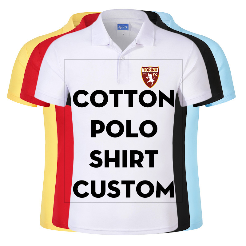Cheap Custom   Polo   Shirt Printed With Your Design/Logo For Group Team School Men Cotton Casual Breathable shirt Tops Tees