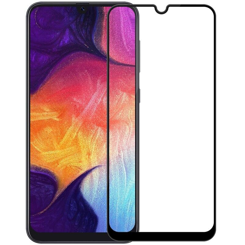 Protetor de tela de vidro para samsung galaxy a30 samsung a50 nillkin anti-explosão cp + 2.5d cobertura completa filme de vidro temperado