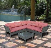 Popular Modern Leisure 6pc Rattan Hd Designs Outdoor Furniture(China)