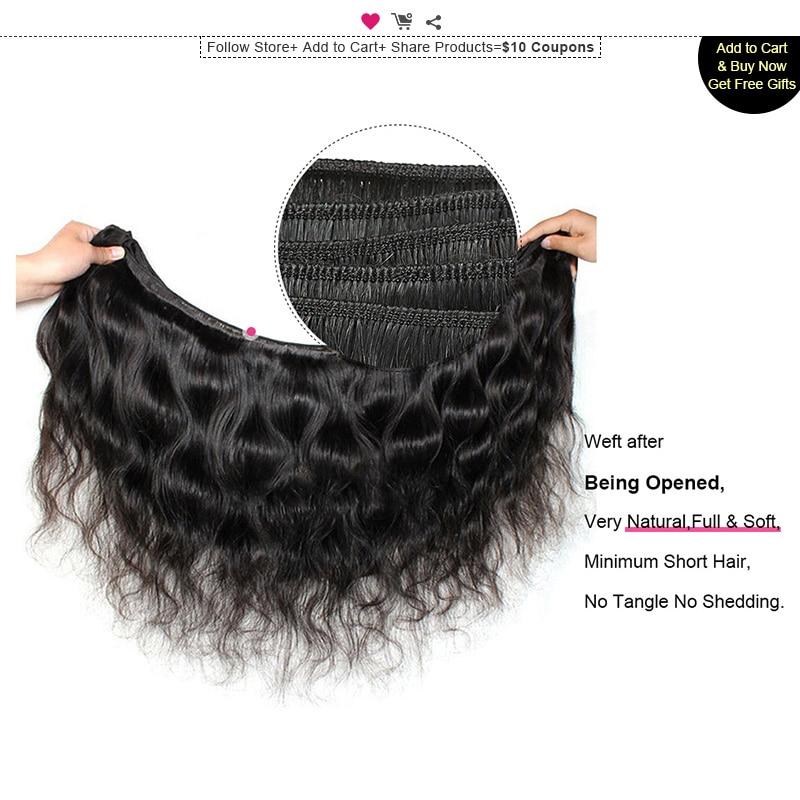 Ishow Malaysian Body Wave Hajcsomag Nem Remy Hair Weave Csomag 1 - Emberi haj (fekete) - Fénykép 4