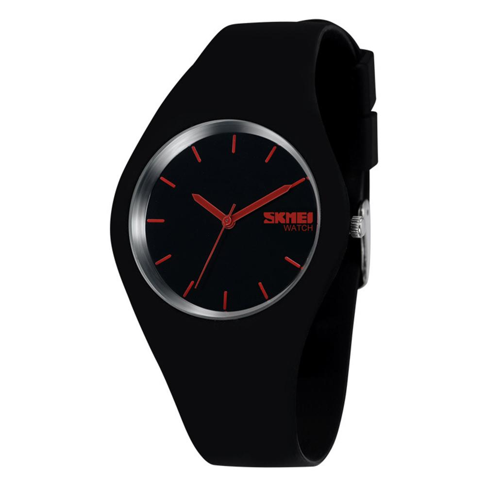 Fashion Men Women Casual Silicone Band Quartz Analog Thin Chic Wrist Watch Gift super speed v6 v0198 men s fashion silicone band analog quartz watch black tangerine 1 x lr626