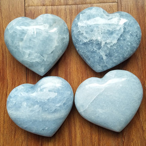 Image 2 - 1pc about 450 500g beautiful natural celestite stones and crystals heart home decoration stone healing crystals