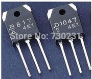 Free Shipping One Lot 4PCS,(2) 2SD1047 + (2) 2SB817 PNP Transistor TO-3P NEW