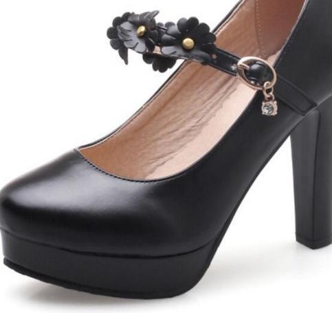Beige Mujer Filles Cheville Chaussures Mariage De La noir Femmes Pompes Zapatos À Dames rose Bride blanc Élégant Mariée Parti qpnrq4wZ