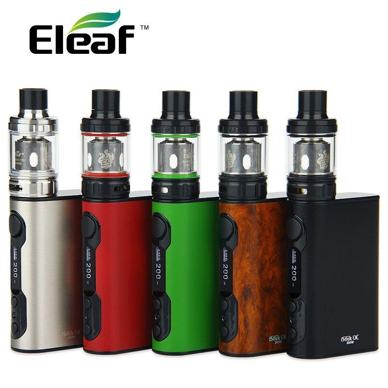 Originale Eleaf iStick QC 200 W con Melo 300 Kit 5000 mAh VW/TC w/Potente ES bobine 0.17ohm Sigaretta Elettronica vs istick Pico
