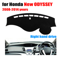 Car dashboard covers For Honda new ODYSSEY 2008 to 2014 Right hand drive dashboard mat dashmat Instrument platform accessories