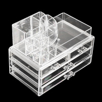 Luxury Acrylic Cosmetic Organizer Lipstick Holder Display Stand Clear Makeup Case Makeup Organizer Organizador Storage Container