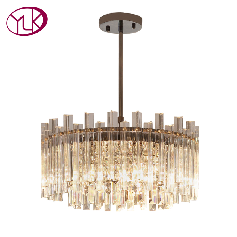 Youlaike Modern Luxury LED Chandelier High Quality Clear Crystal Lampshade Lights Living Room Chandeliers Lighting For Ceiling обои виниловые andrea rossi burano 1 06х10м 2536 4