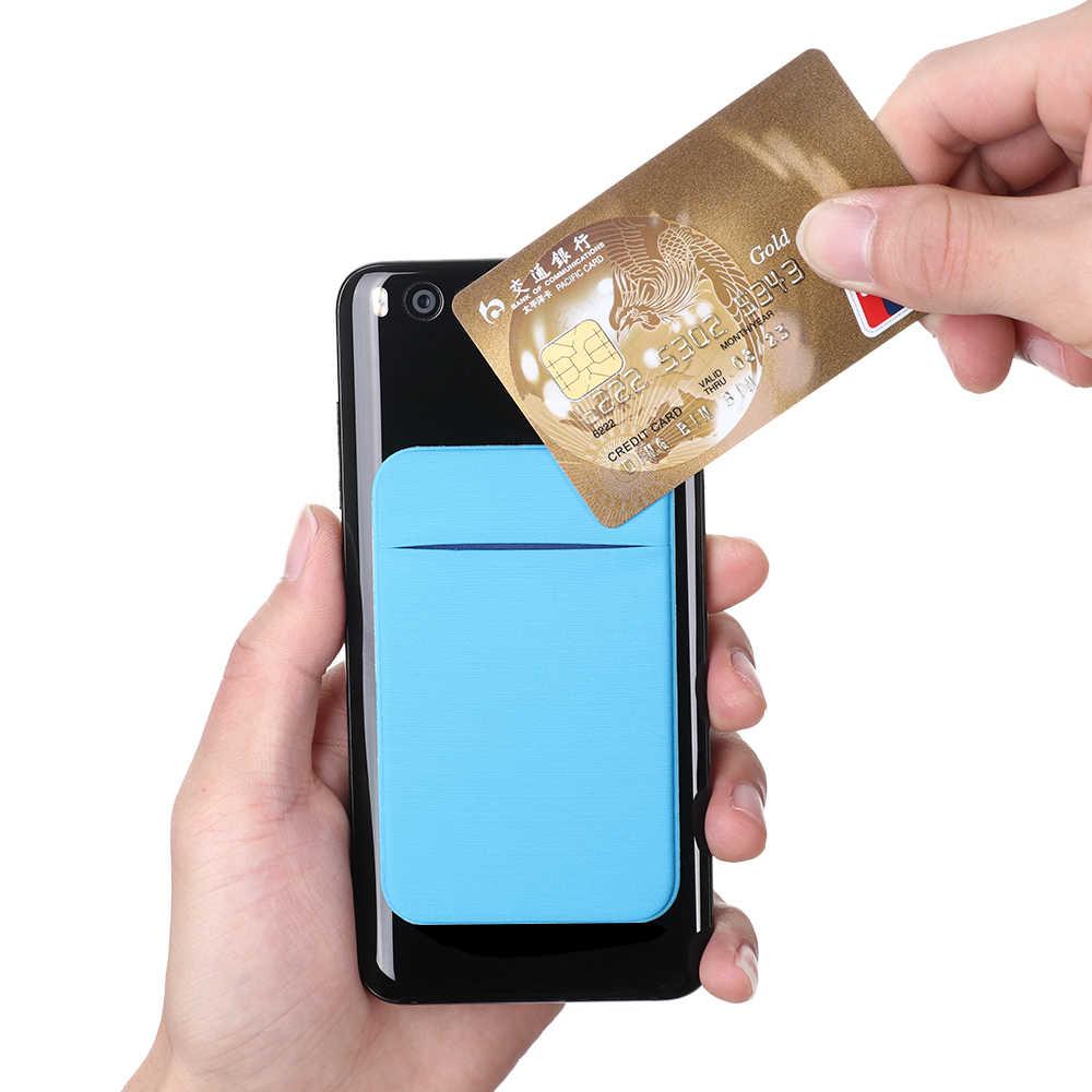 אופנה אלסטי למתוח לייקרה דבק טלפון סלולרי מזהה אשראי כרטיס בעל מדבקת כיס ארנק מקרה כרטיס בעל Fit ביותר טלפון