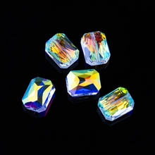 10PCS 9X12mm 11x18mm Faceted shining crystal beads octagon shape glass beads loose Spacer beads for Earring DIY Jewelry making цены
