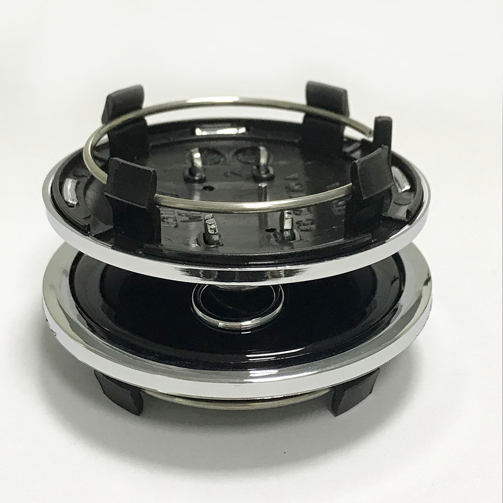 4pcs 69mm black Wheel Center Caps Cover Badge Hub Caps Emblem For A4 A6 RS6 car styling