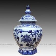 Aesthetic ceramic blue and white porcelain vase new house decoration