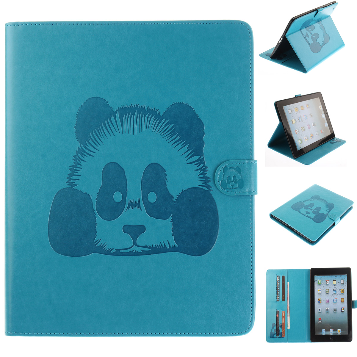 Original Brand Full Body Protective Case for Apple iPad 4 3 2 9.7'' Cartoon Luxury 3D Embossed Panda Smart Wake Up Sleep Cover allen bradley 1766 l32bwa new and original factory sealed have in stock