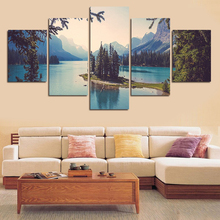 Framed Wall Art Modular Pictures Painting HD Printed 5 Panel Beautiful Natural Landscape Canvas Poster Home