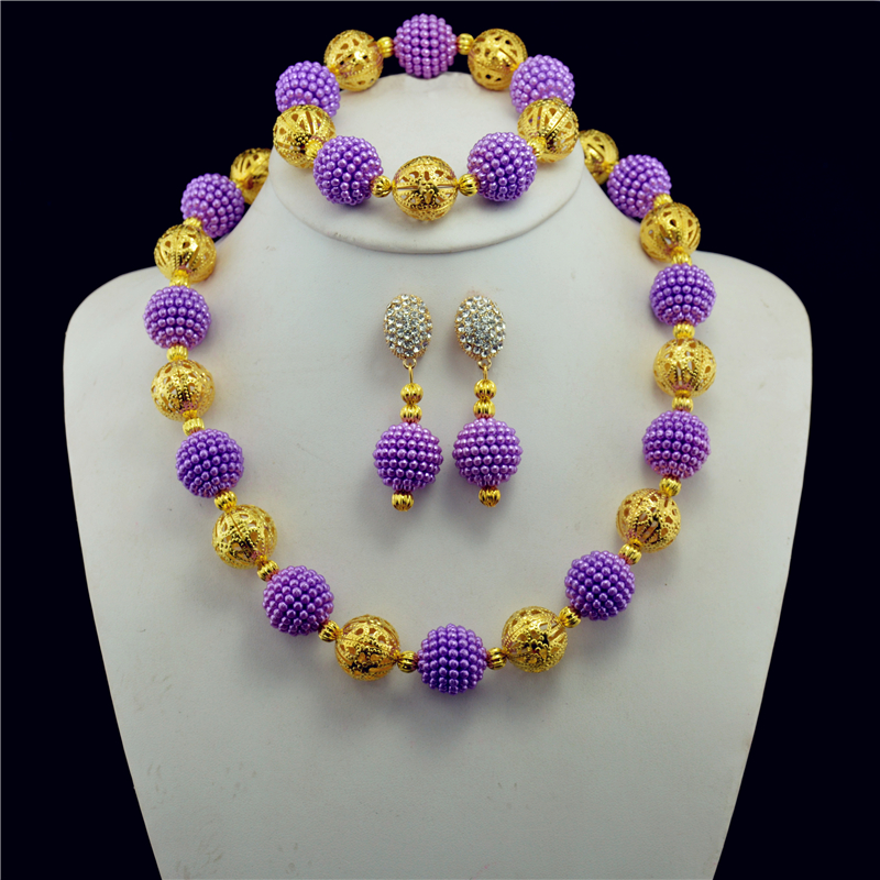 212eefe9da Aliexpress.com : Buy Fashion pink jewelry set wedding of women Dubai jewelry  sets Gold color necklaces and Earrings Set African Beads from Reliable  jewelry ...
