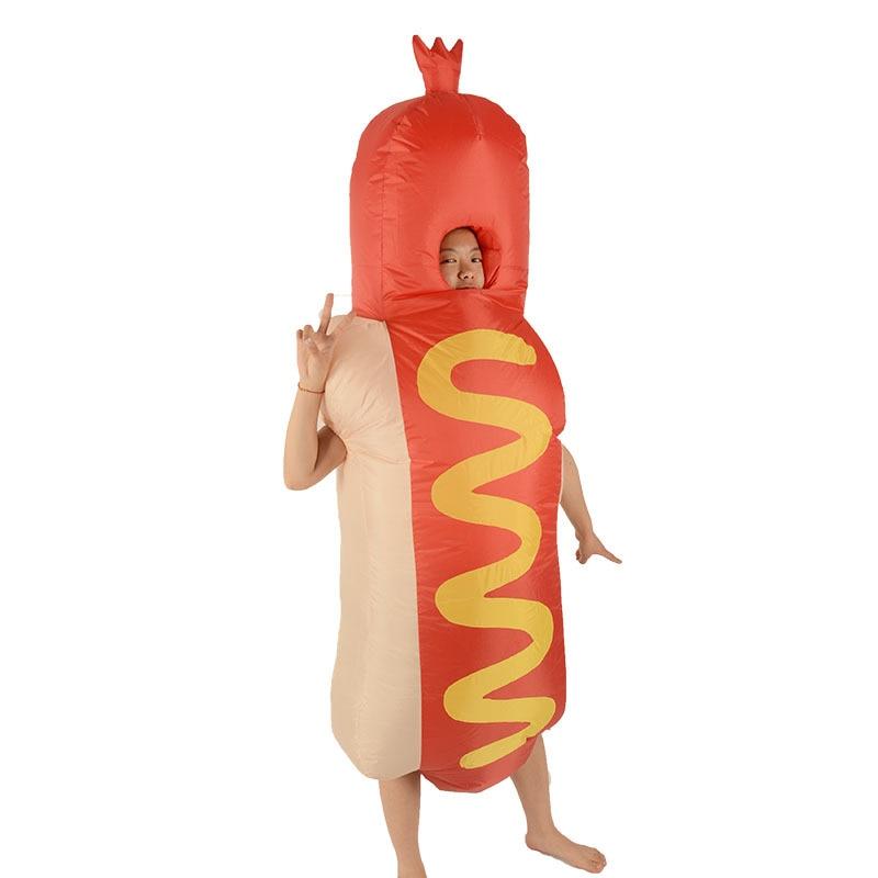 HOT DOG HOTDOG MASCOT COSTUME Vuxen Uppblåsbara Hot Dog Fancy Dress - Maskeradkläder och utklädnad